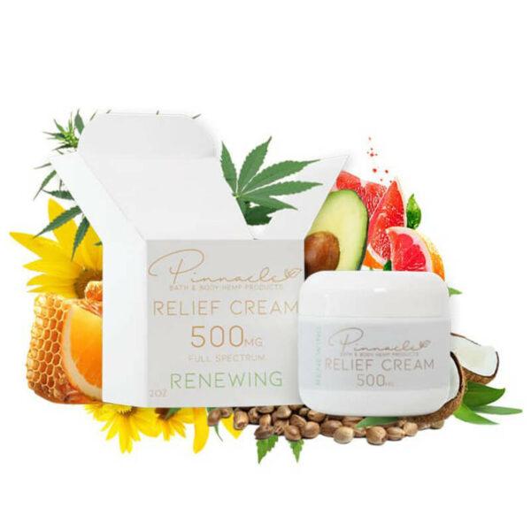 Pinnacle Renewing CBD Relief Cream 500 mg